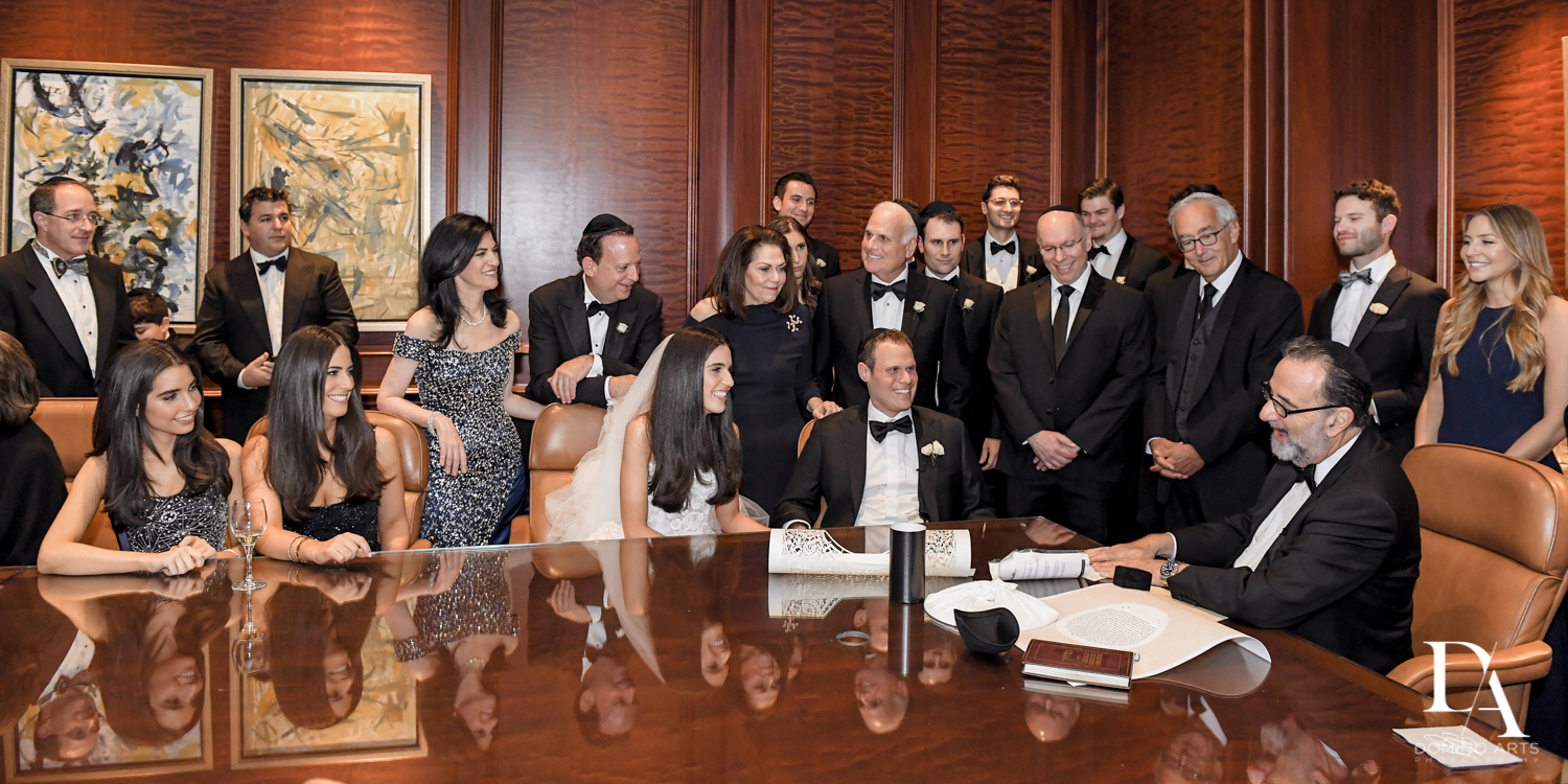 jewish ketubah signing at A Ritz Carlton Wedding in Key Biscayne by Domino Arts Photography