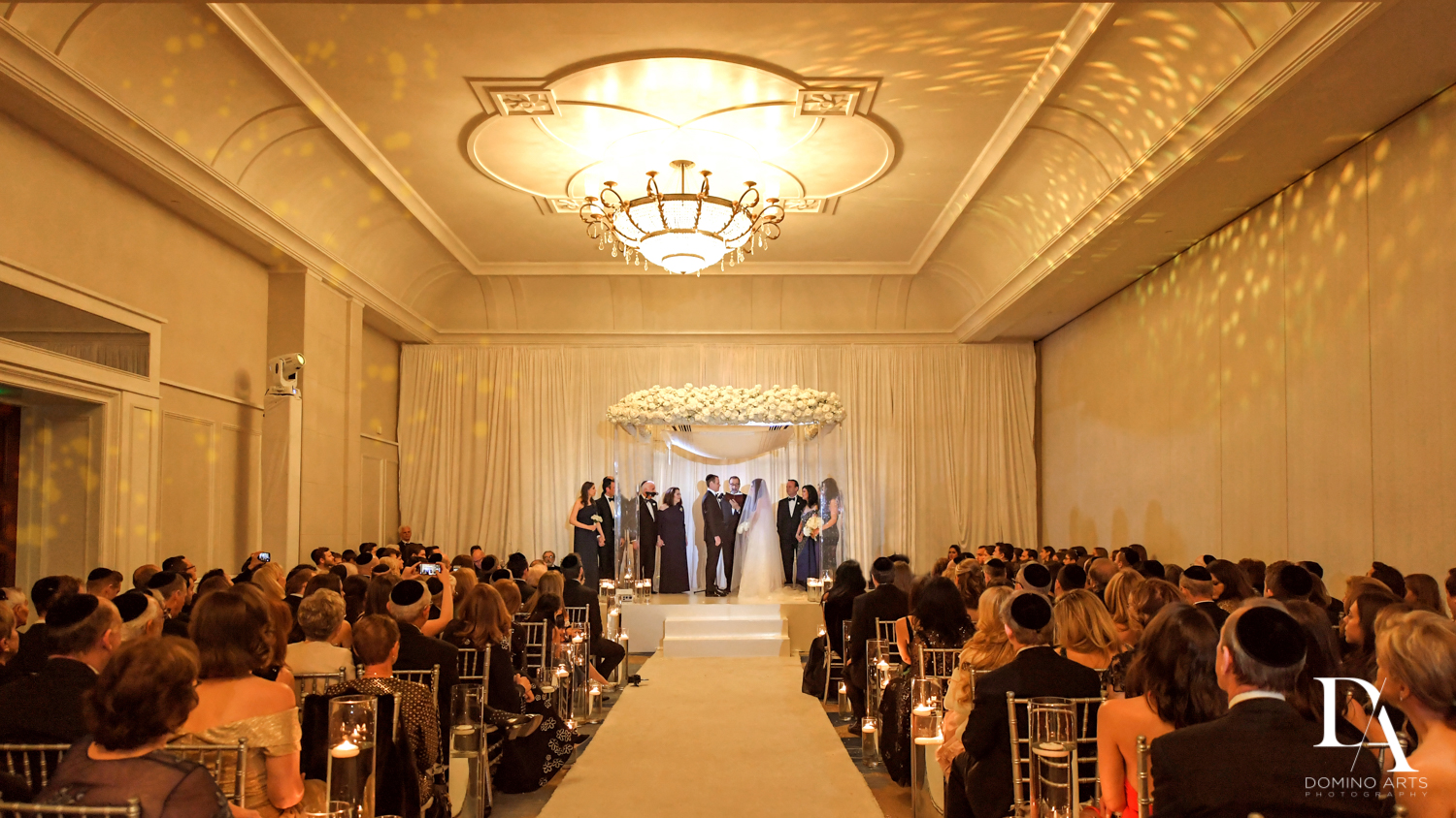 jewish ceremony at A Ritz Carlton Wedding in Key Biscayne by Domino Arts Photography