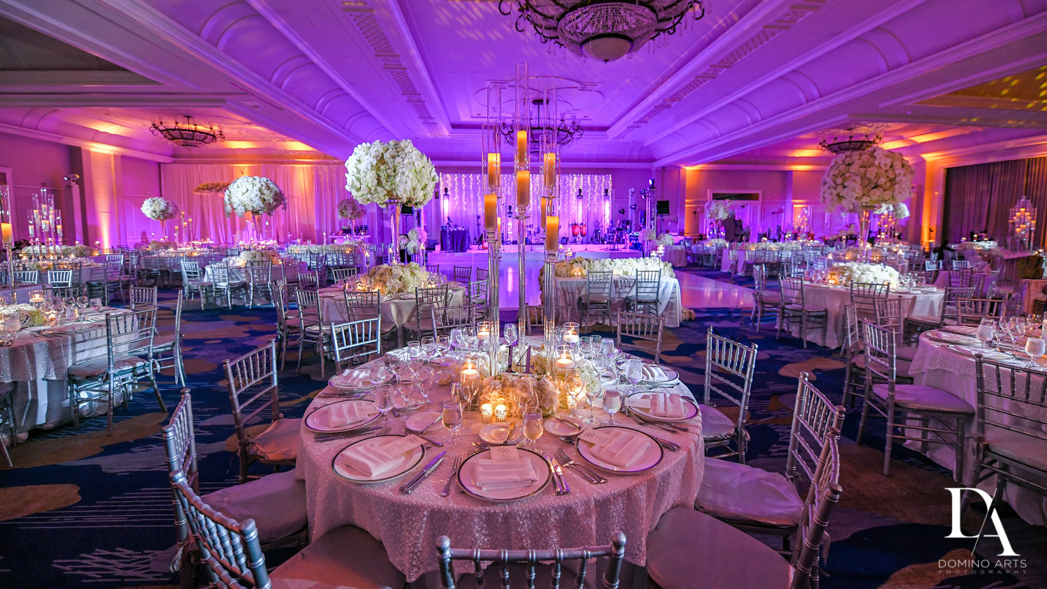 luxury decor at A Ritz Carlton Wedding in Key Biscayne by Domino Arts Photography