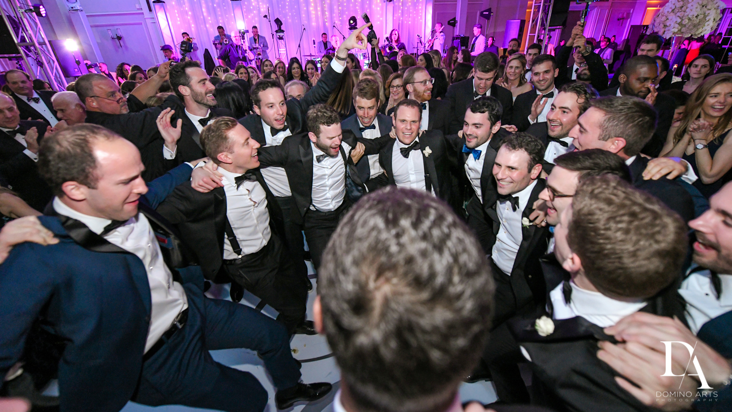 jewish hora at A Ritz Carlton Wedding in Key Biscayne by Domino Arts Photography