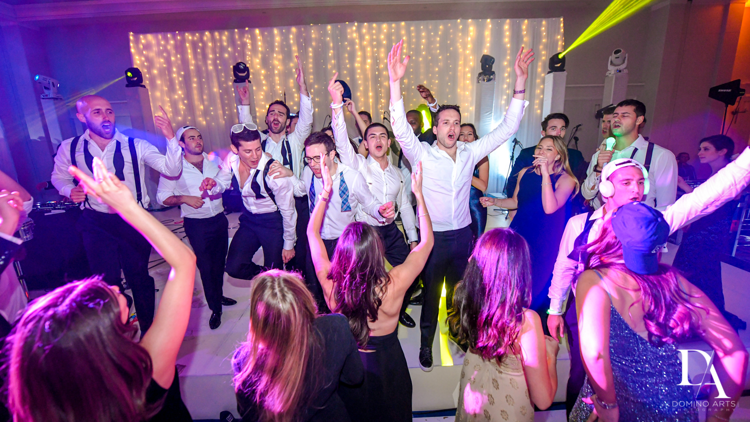 fun party at A Ritz Carlton Wedding in Key Biscayne by Domino Arts Photography