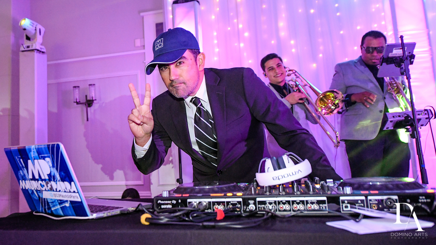 live DJ and band for A Ritz Carlton Wedding in Key Biscayne by Domino Arts Photography