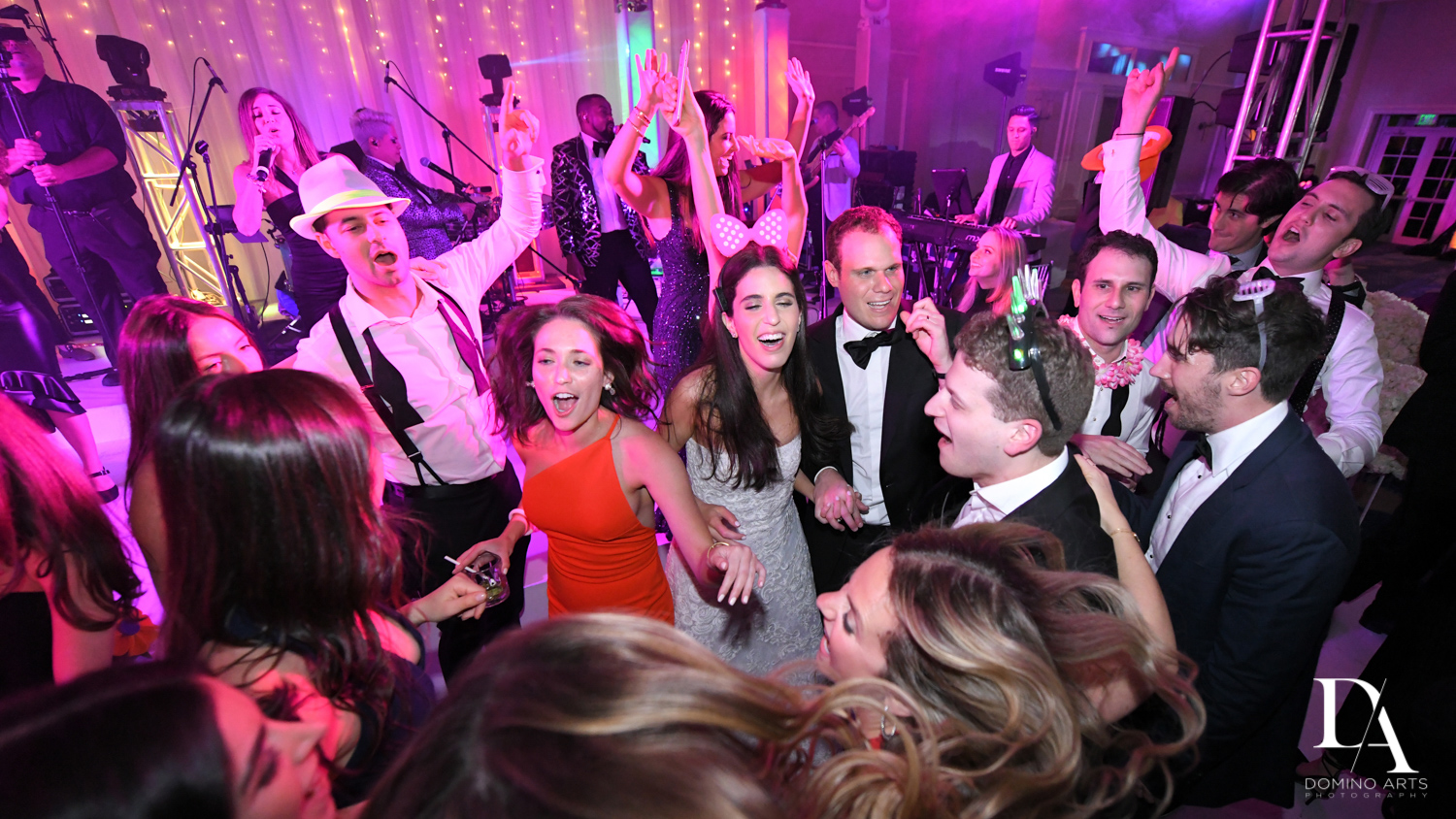 fun party photos from A Ritz Carlton Wedding in Key Biscayne by Domino Arts Photography