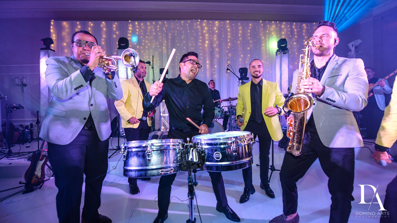 Manolo Puerto Band at A Ritz Carlton Wedding in Key Biscayne by Domino Arts Photography