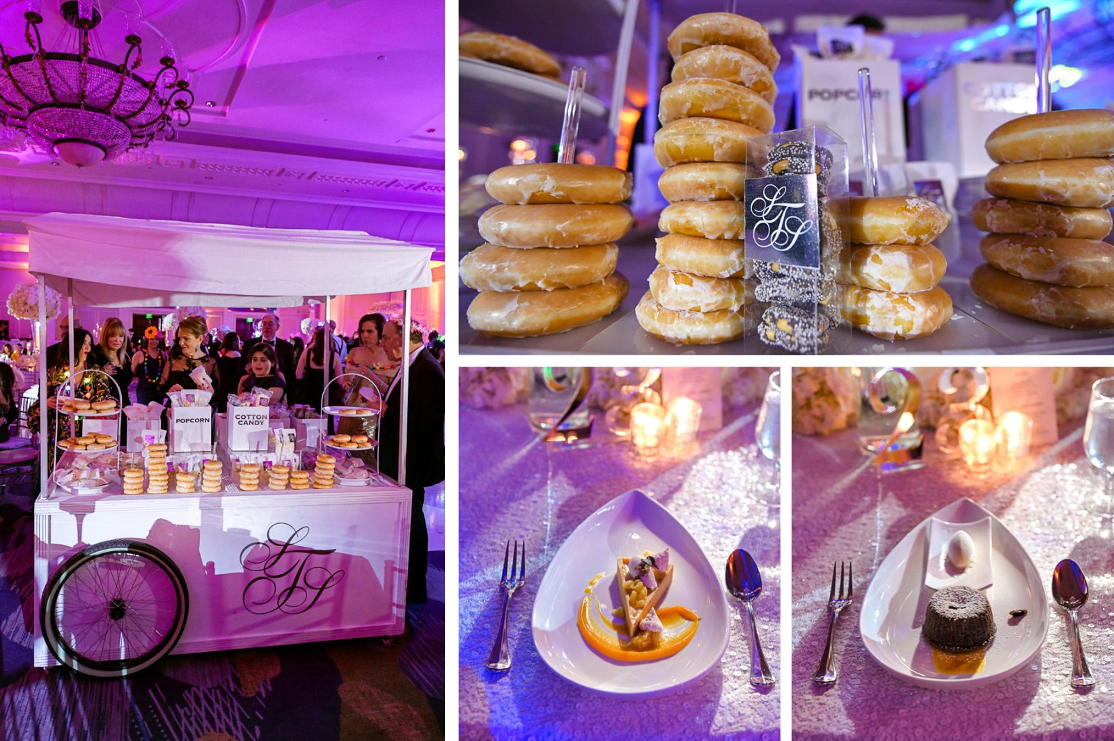 custom dessert table for A Ritz Carlton Wedding in Key Biscayne by Domino Arts Photography