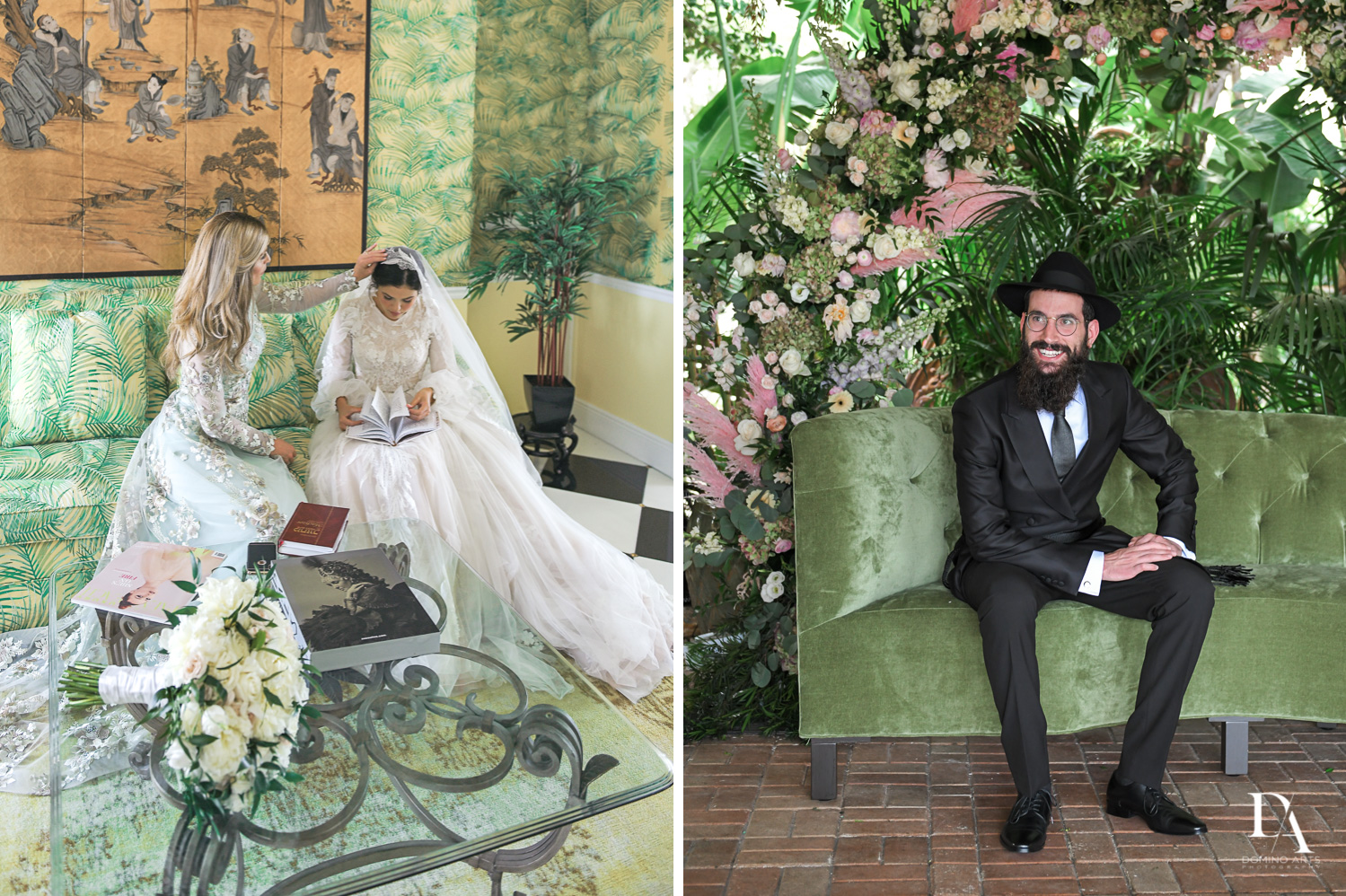 traditional bride and groom at Jewish Orthodox Wedding in Palm Beach by Domino Arts Photography