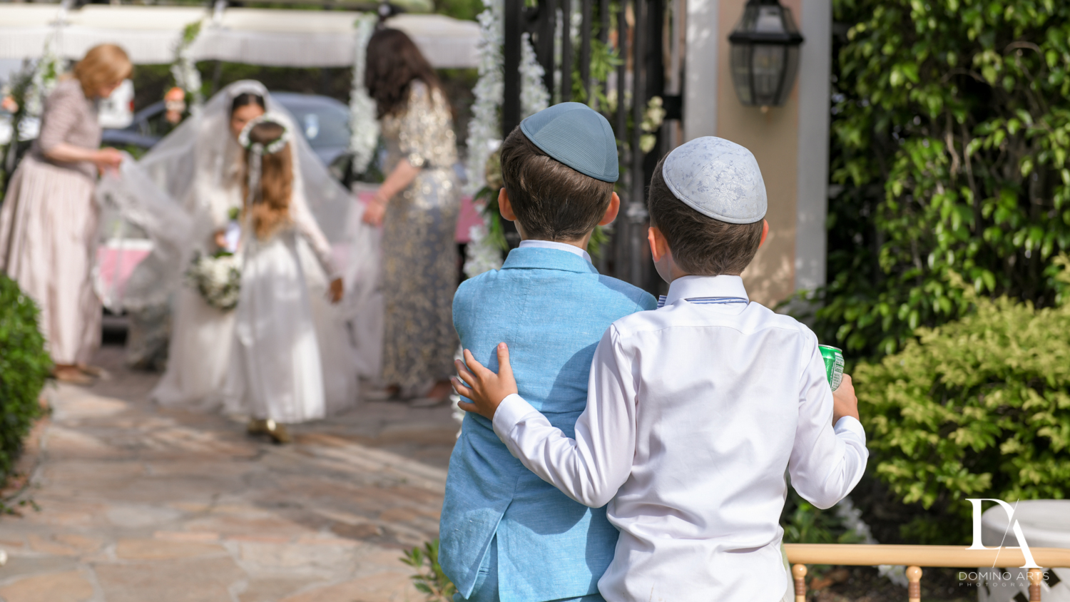kids at Jewish Orthodox Wedding in Palm Beach by Domino Arts Photography