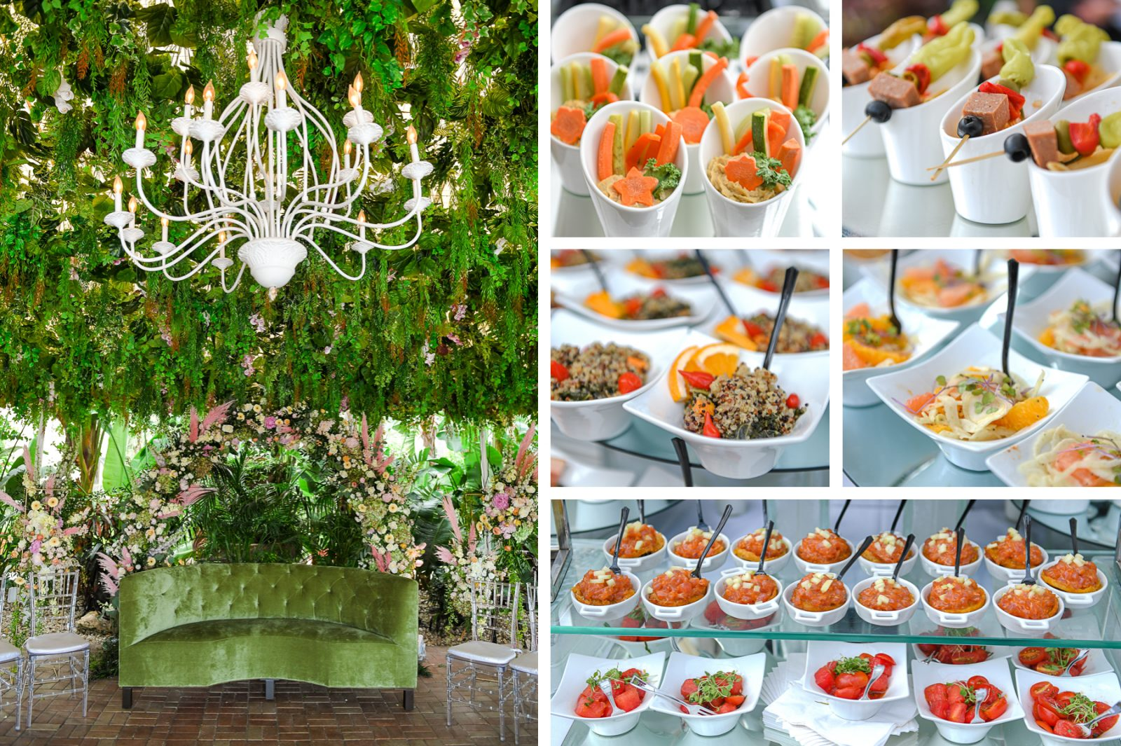 best appetizers at Jewish Orthodox Wedding in Palm Beach by Domino Arts Photography