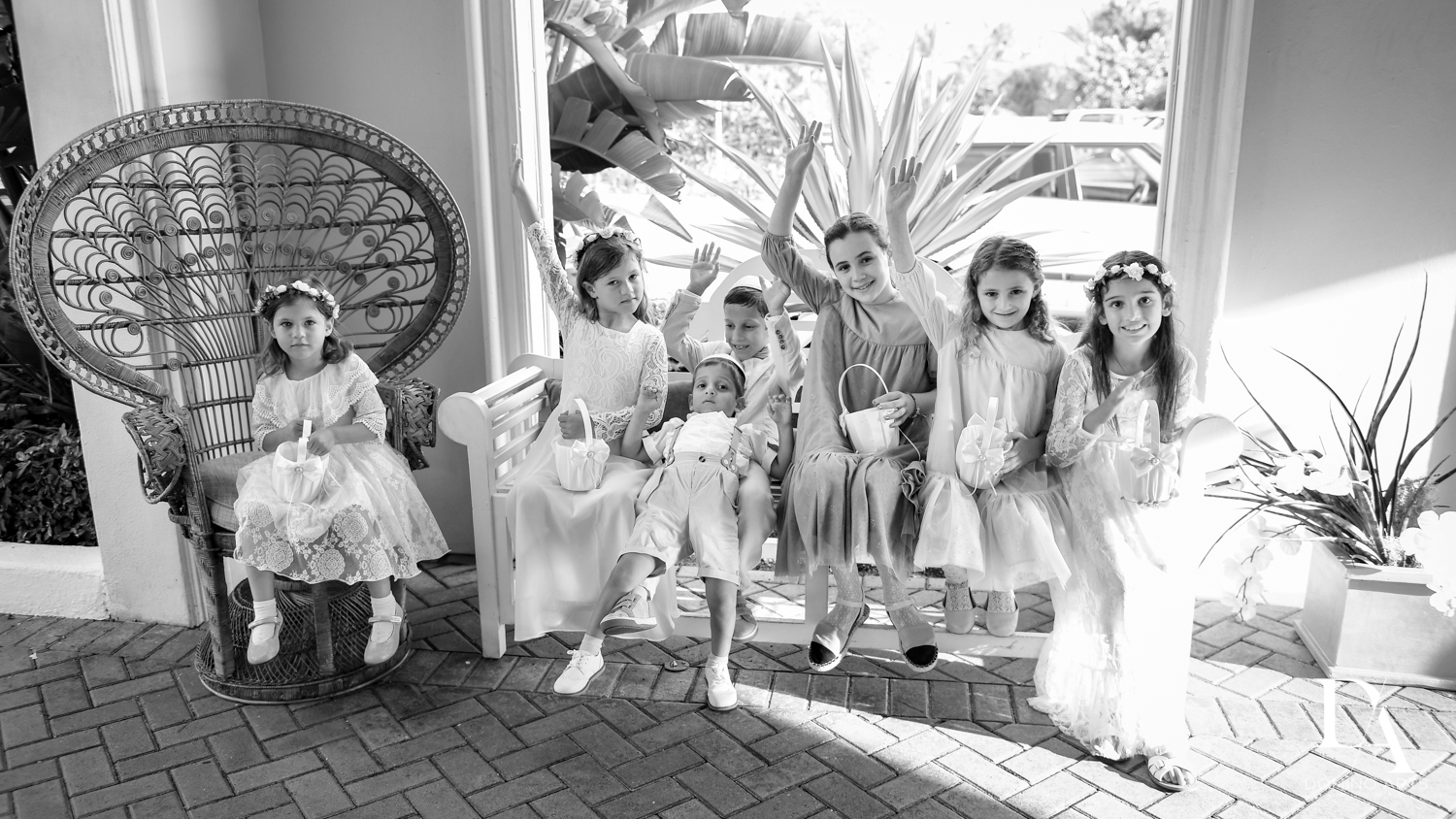 fun B&W at Jewish Orthodox Wedding in Palm Beach by Domino Arts Photography