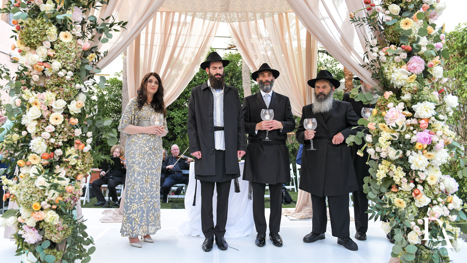 chuppah at Jewish Orthodox Wedding in Palm Beach by Domino Arts Photography