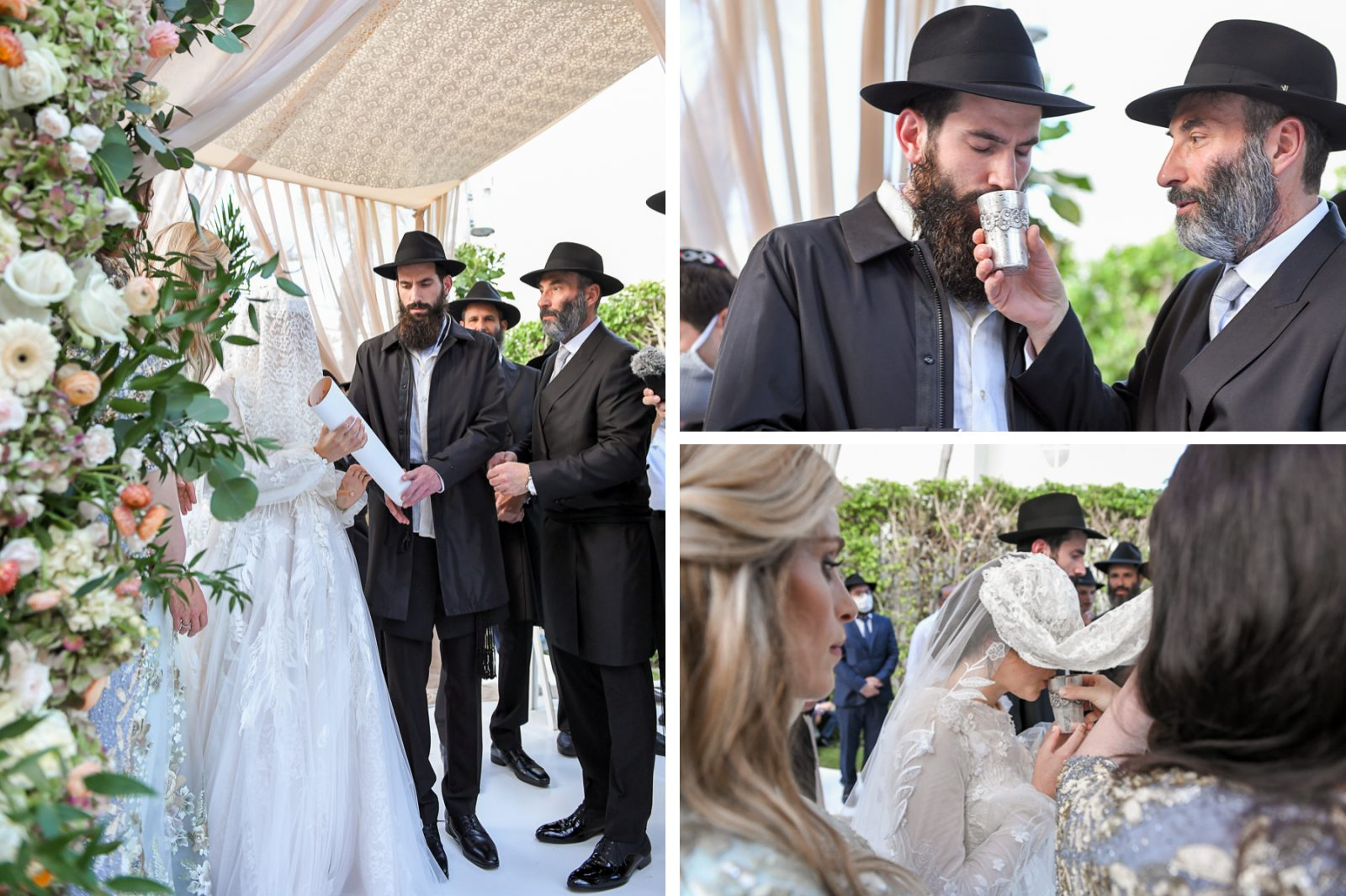 wine at Jewish Orthodox Wedding in Palm Beach by Domino Arts Photography