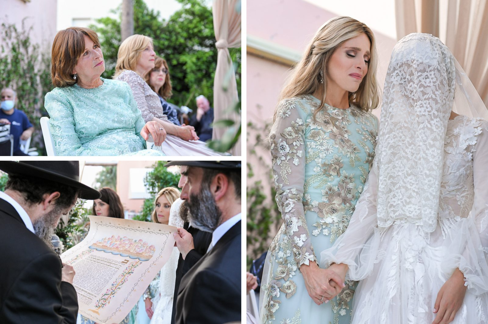 ketubah at Jewish Orthodox Wedding in Palm Beach by Domino Arts Photography