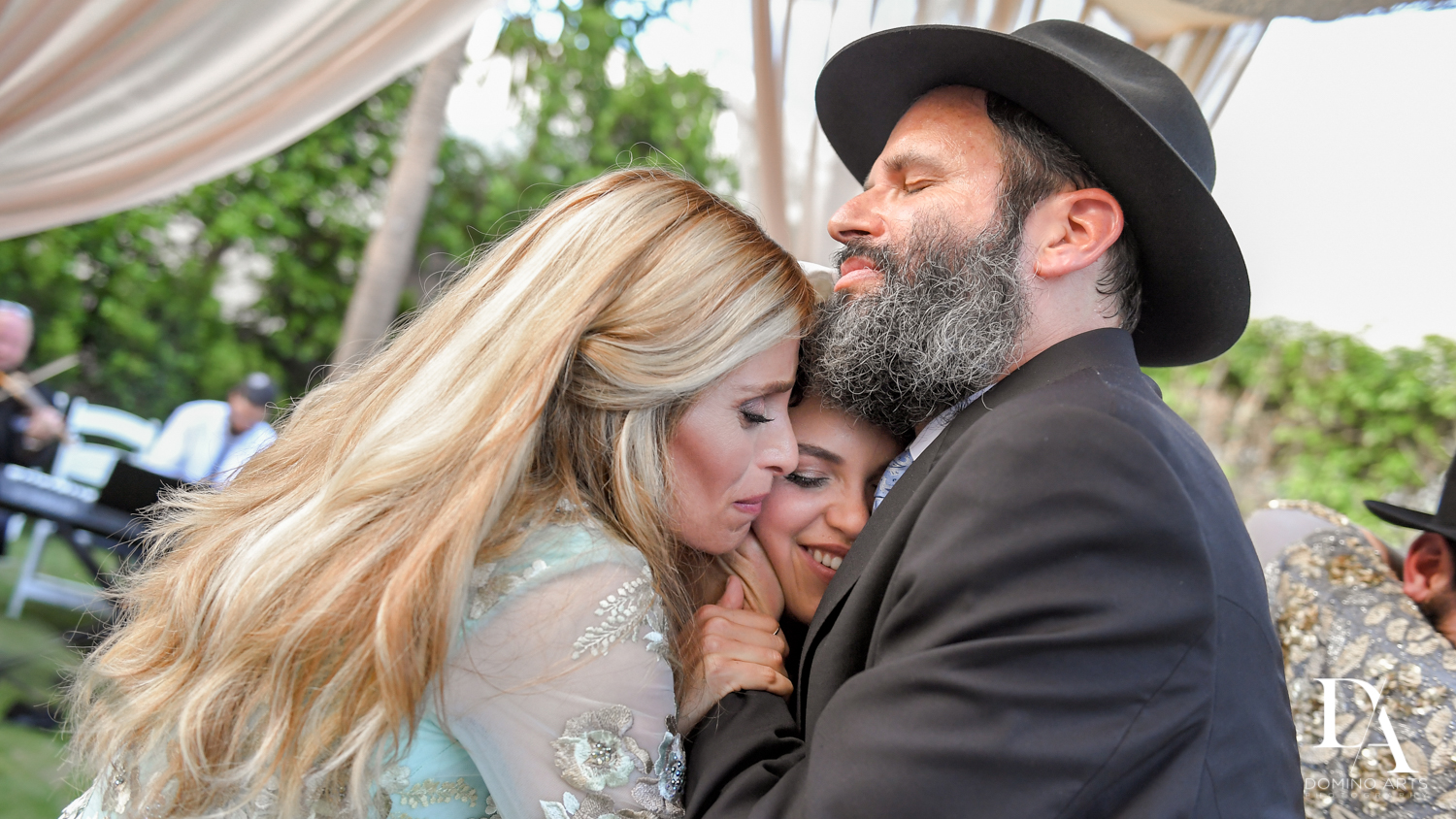 happiness at Jewish Orthodox Wedding in Palm Beach by Domino Arts Photography