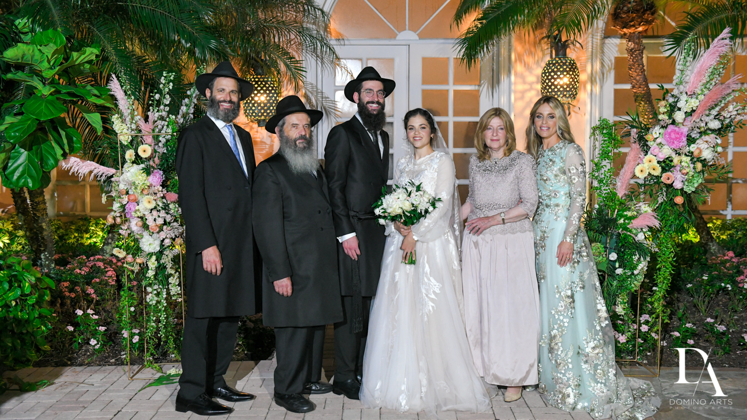 family photos at Jewish Orthodox Wedding in Palm Beach by Domino Arts Photography