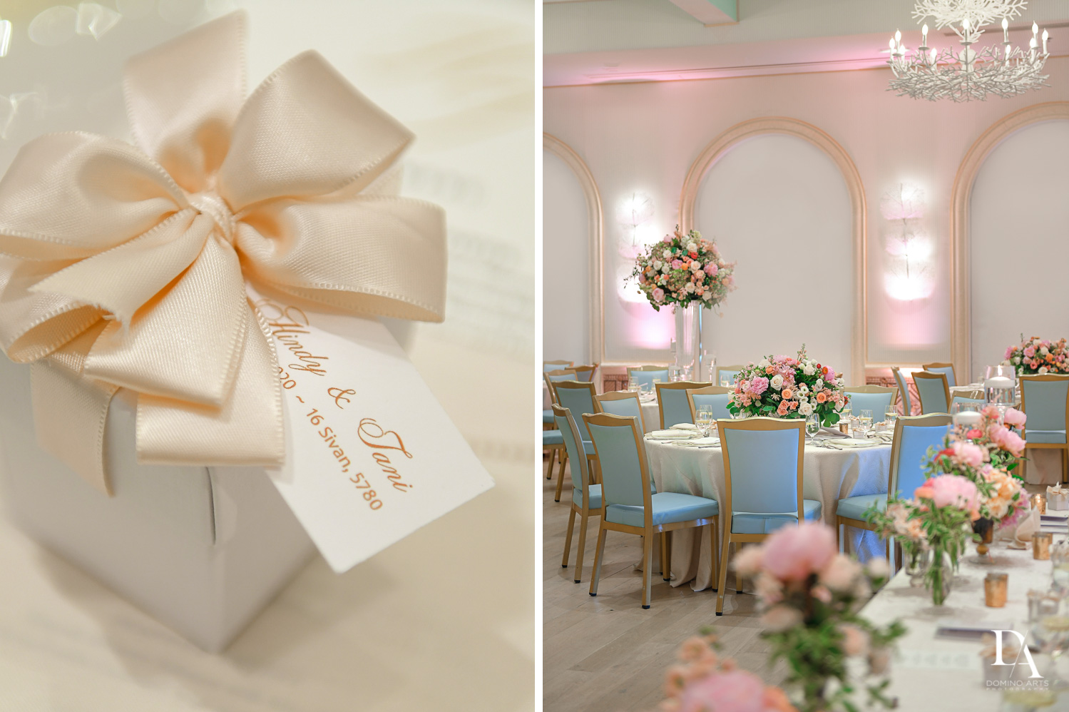 gifts and decor at Jewish Orthodox Wedding in Palm Beach by Domino Arts Photography