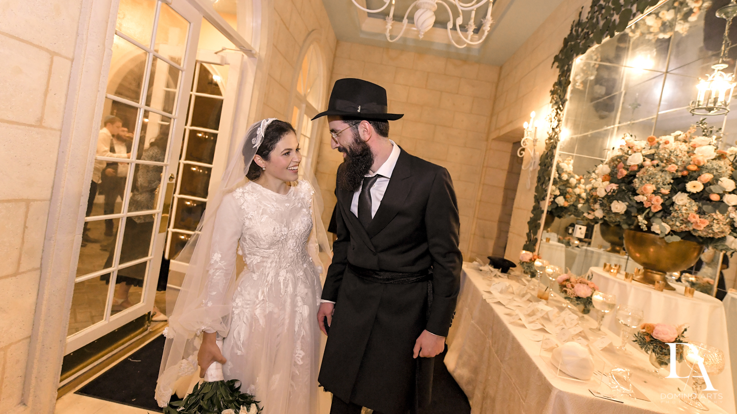 In Love at Jewish Orthodox Wedding in Palm Beach by Domino Arts Photography