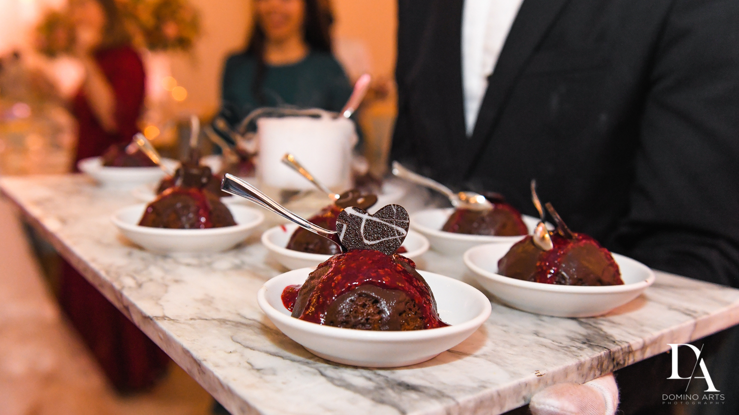 custom dessert at Jewish Orthodox Wedding in Palm Beach by Domino Arts Photography