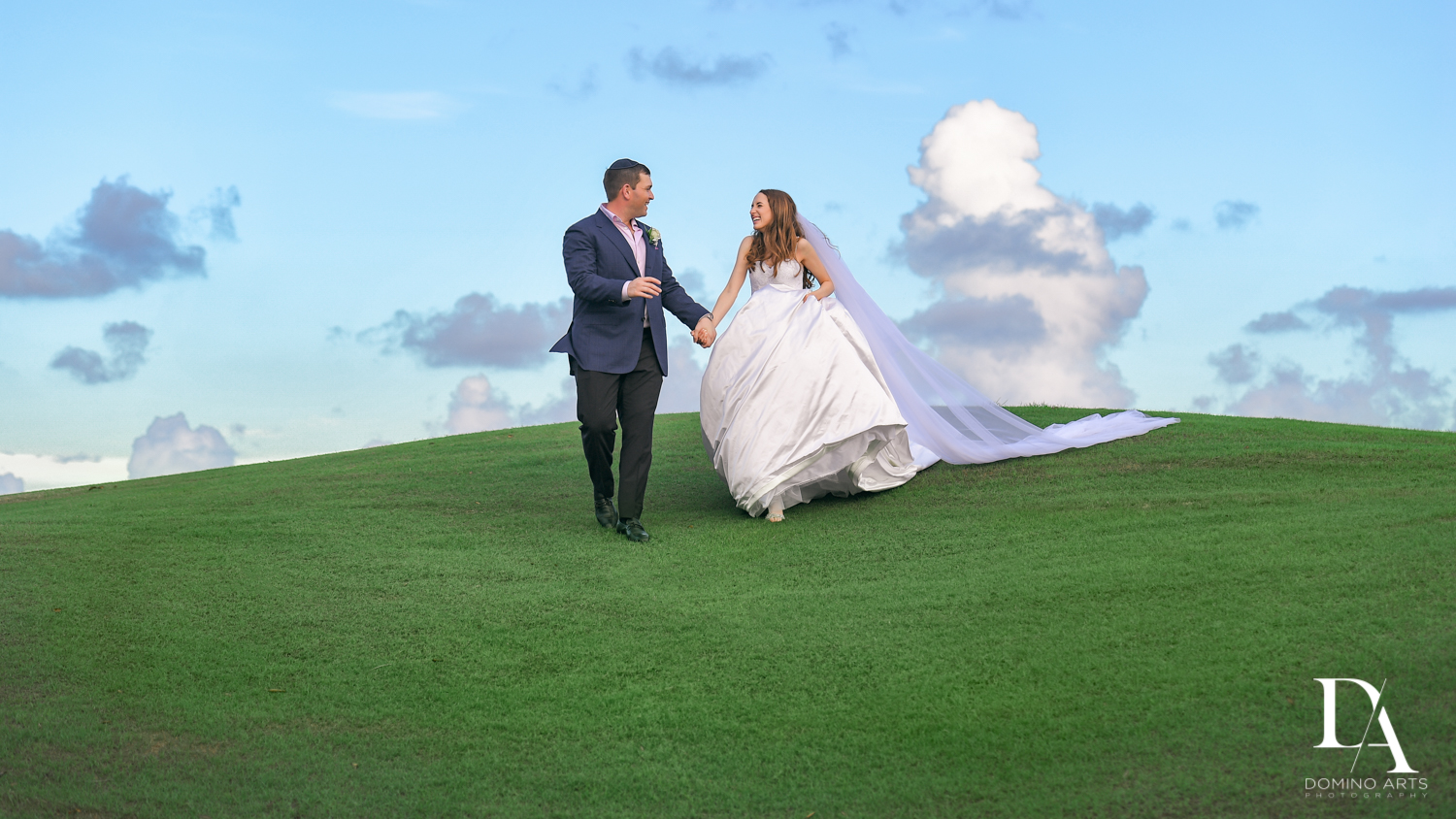 golf course photos at Beautiful Intimate Wedding at Mizner Country Club by Domino Arts Photography