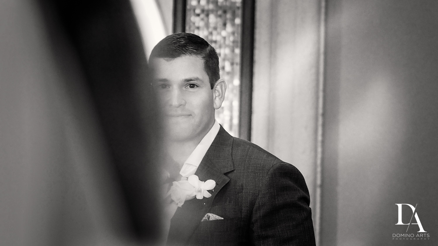 B&W photo journalism at Beautiful Intimate Wedding at Mizner Country Club by Domino Arts Photography