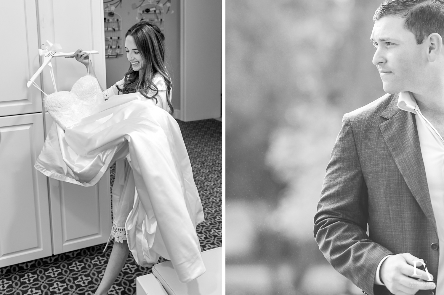 B&W wedding photography at Beautiful Intimate Wedding at Mizner Country Club by Domino Arts Photography