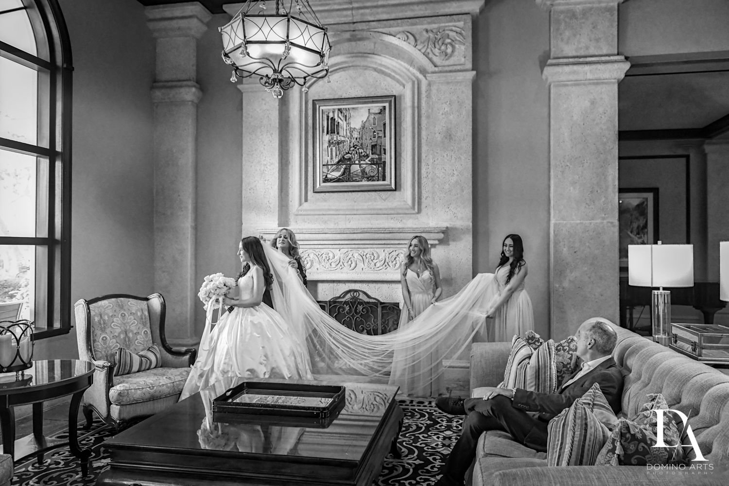best B&W photography at Beautiful Intimate Wedding at Mizner Country Club by Domino Arts Photography