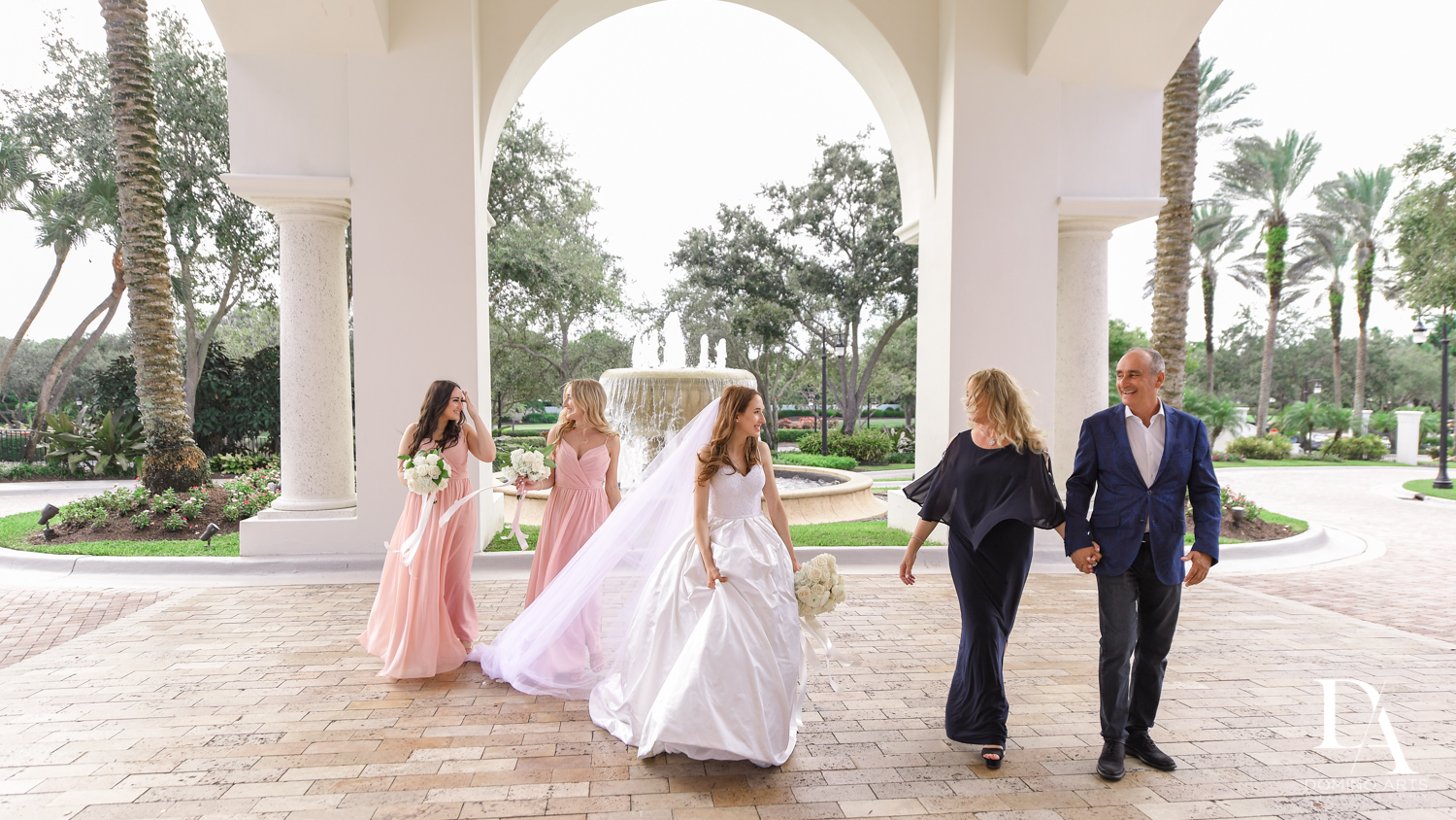 fun family pics at Beautiful Intimate Wedding at Mizner Country Club by Domino Arts Photography