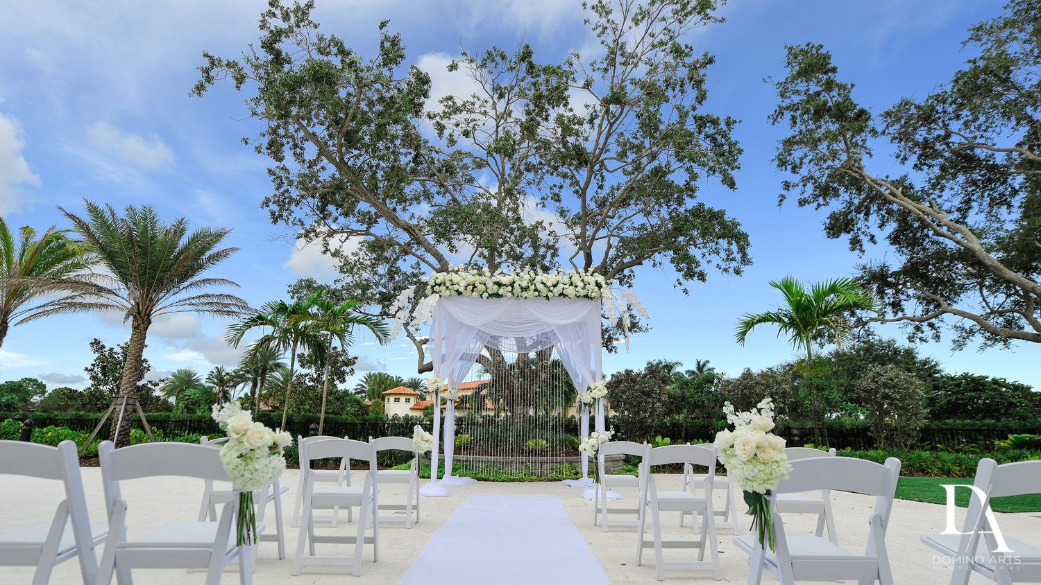 jewish chuppah at Beautiful Intimate Wedding at Mizner Country Club by Domino Arts Photography