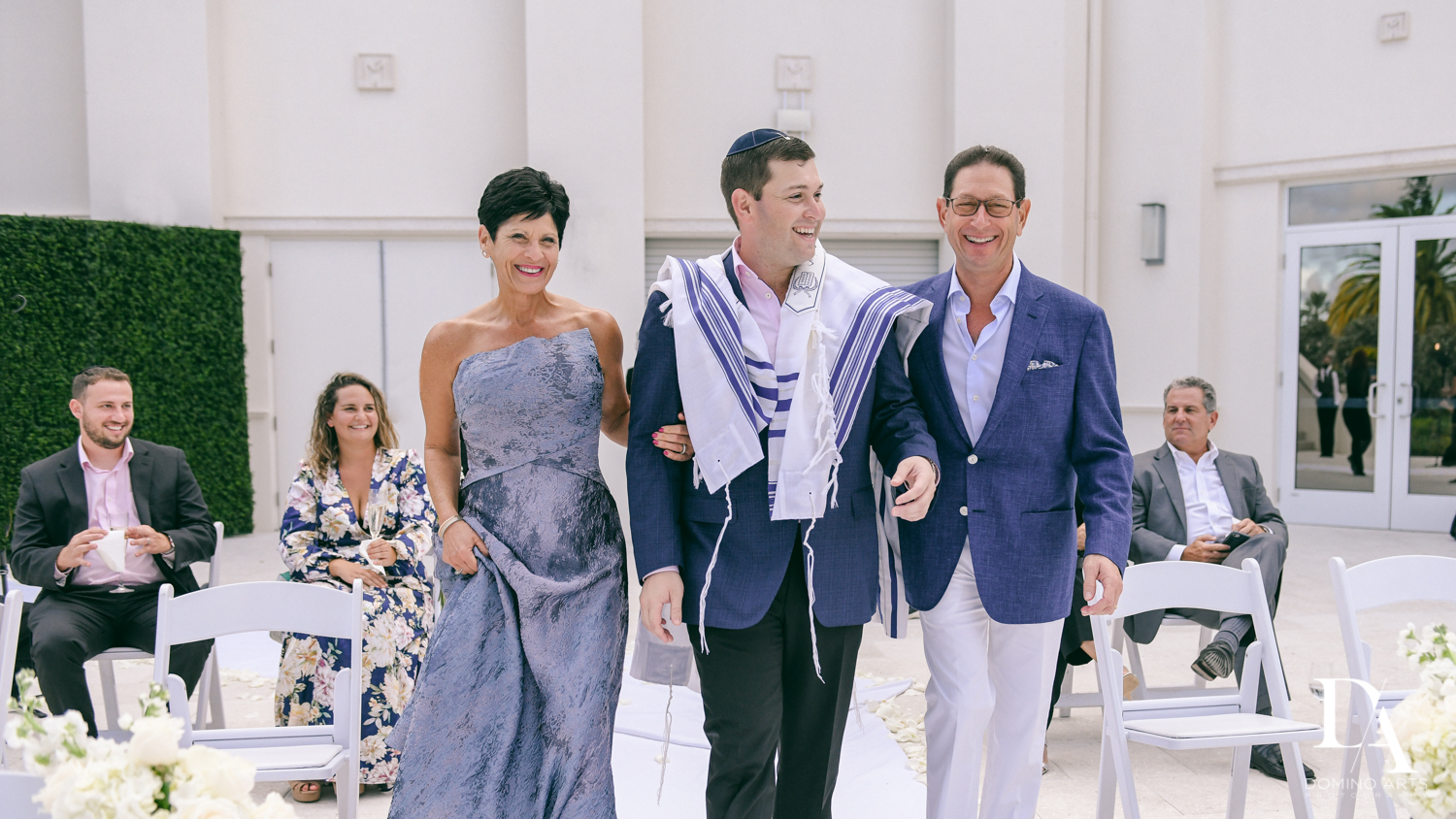 jewish groom procession at Beautiful Intimate Wedding at Mizner Country Club by Domino Arts Photography