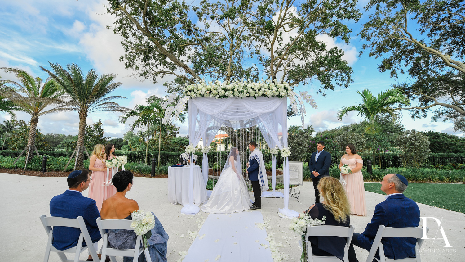 jewish ceremony at Beautiful Intimate Wedding at Mizner Country Club by Domino Arts Photography