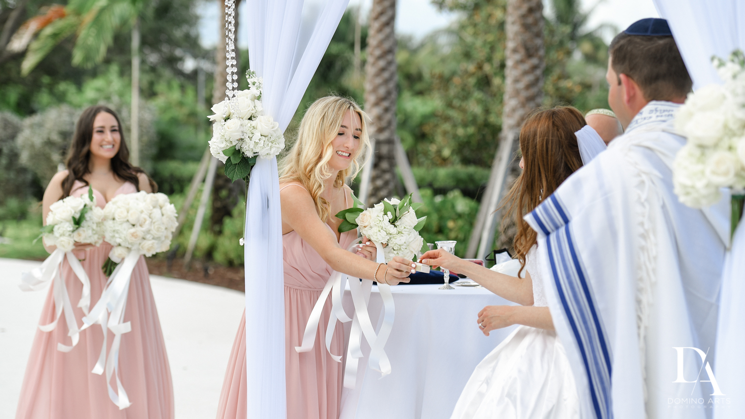 maid of honor at Beautiful Intimate Wedding at Mizner Country Club by Domino Arts Photography