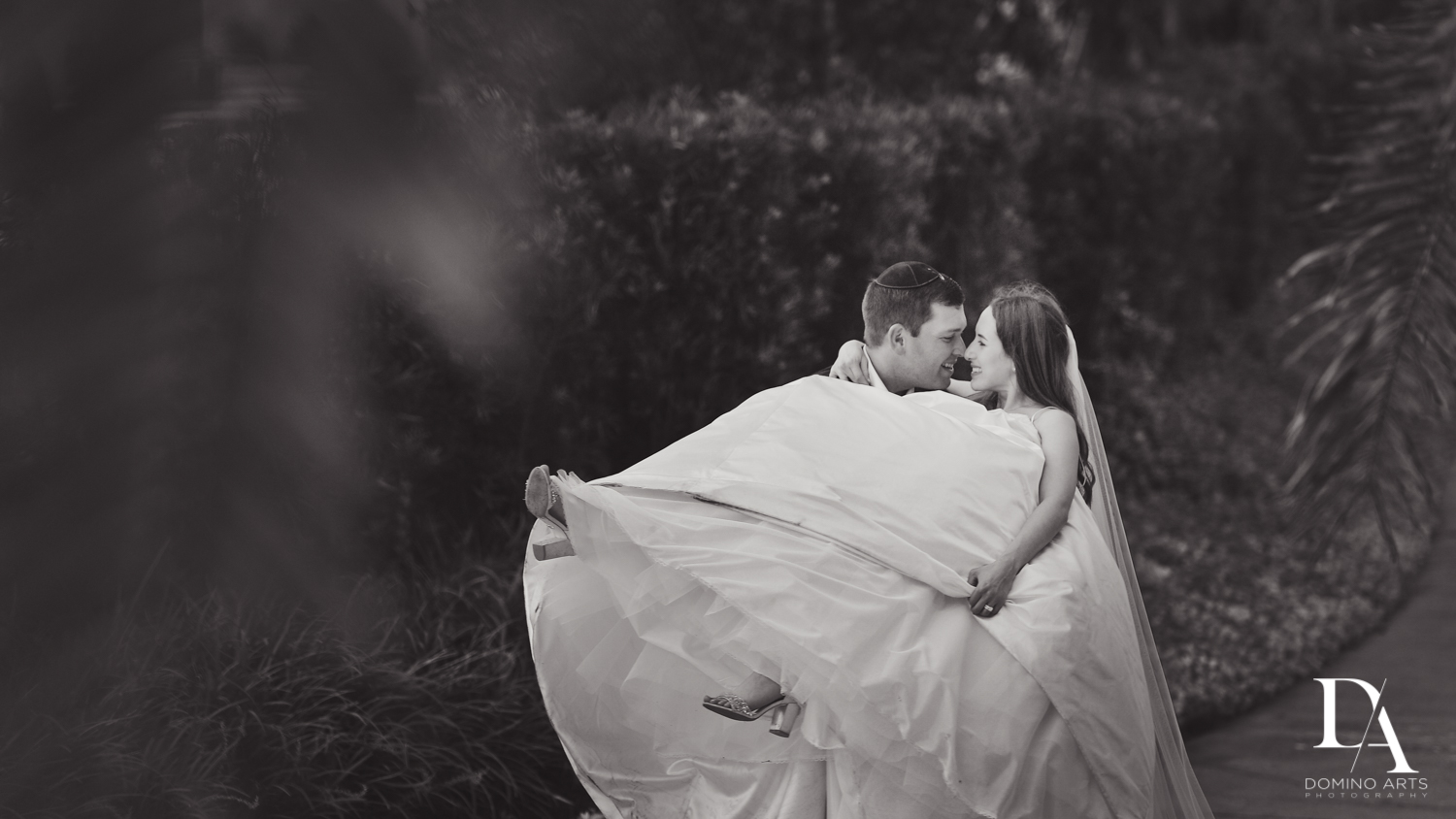 romantic B&W wedding photography by domino arts