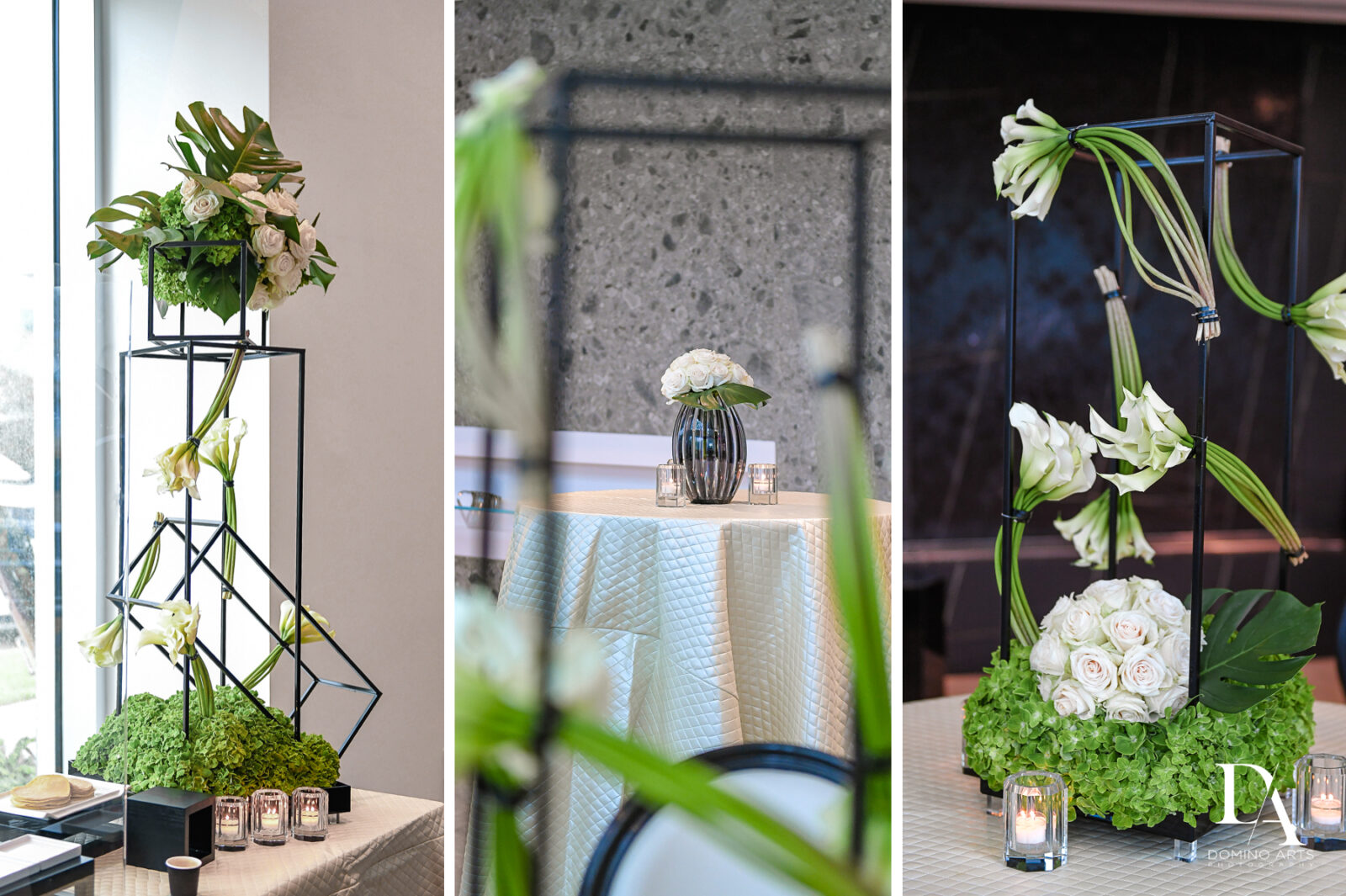 simple decor ideas for Bar Mitzvah Ceremony at Aventura Chabad by Domino Arts Photography