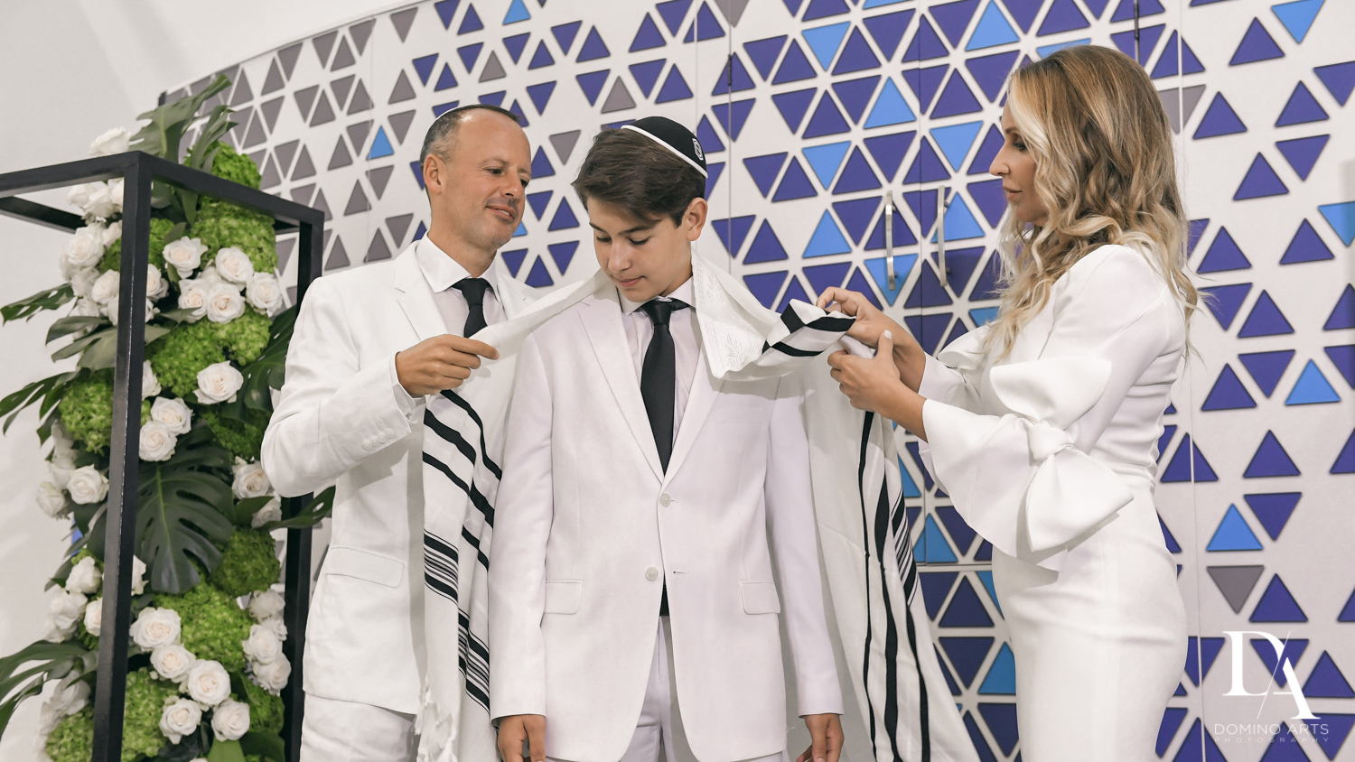 traditions at Bar Mitzvah Ceremony at Aventura Chabad by Domino Arts Photography