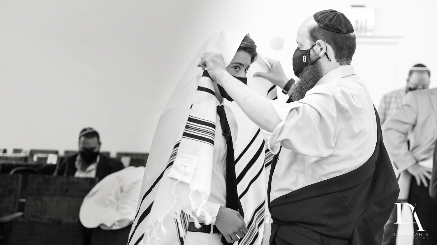 Jewish traditions at Bar Mitzvah Ceremony at Aventura Chabad by Domino Arts Photography