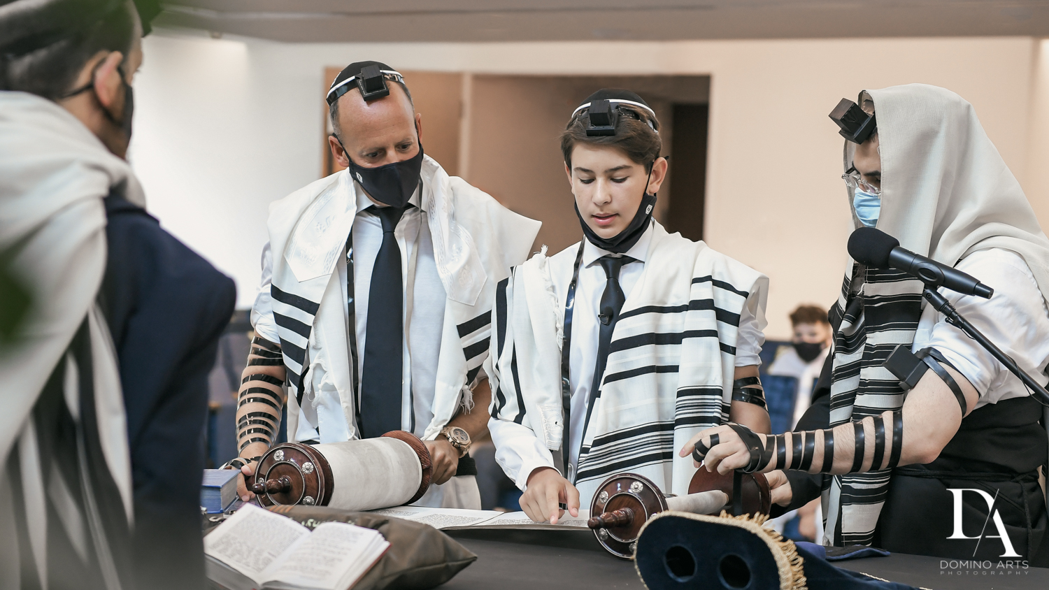 Traditional reading from Torah at Aventura Chabad by Domino Arts