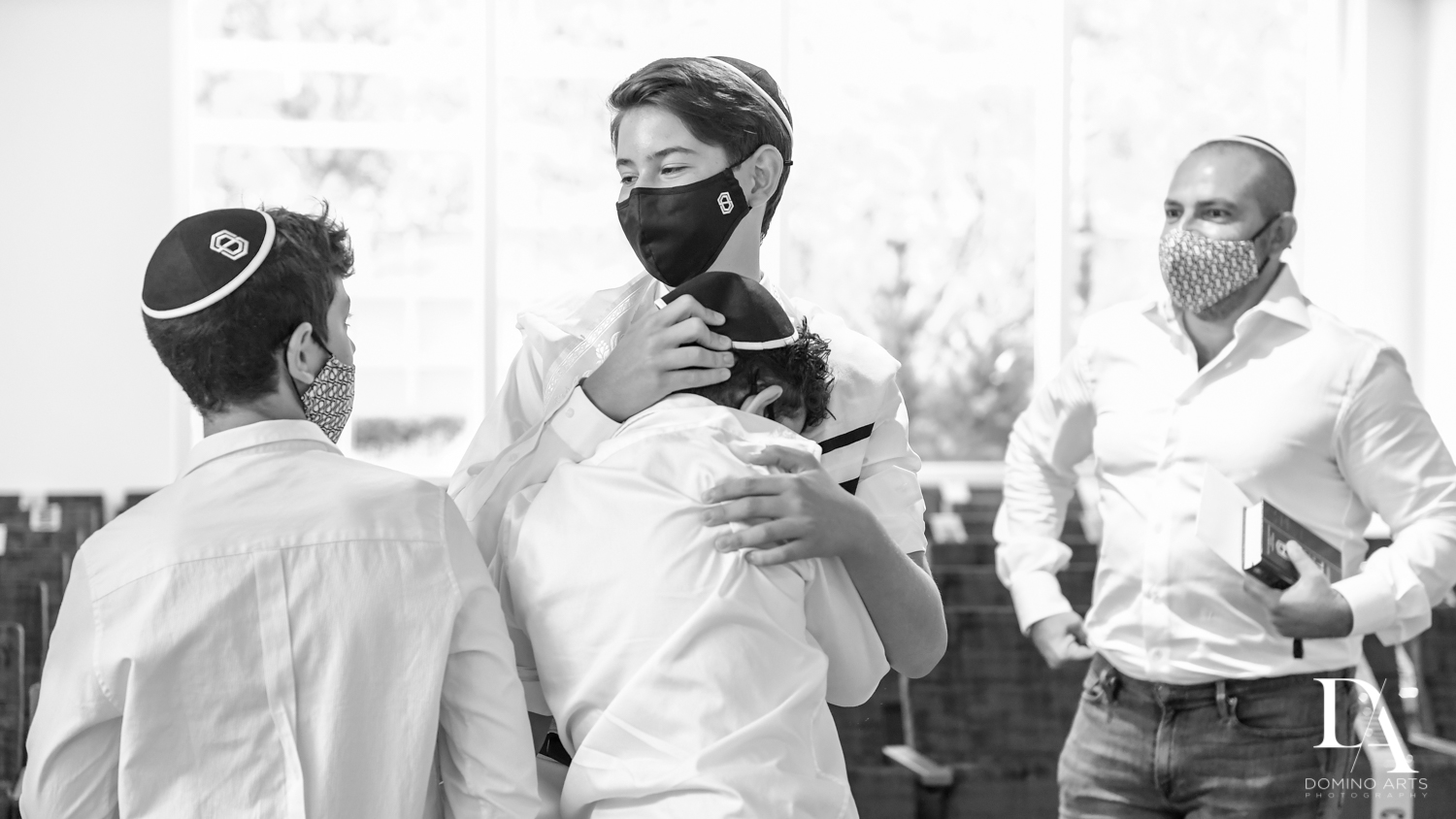 B&W Bar Mitzvah Photography by Domino Arts